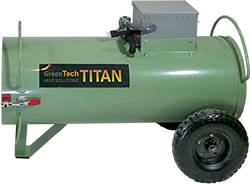 The propane-powered Titan 450 propane bed bug heater can be safely operated in a hallway.
