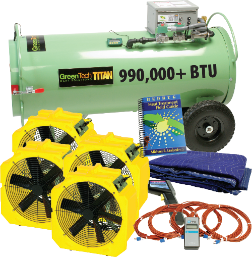 Titan 800 direct fired bed bug heater package kills bed bugs and other insects