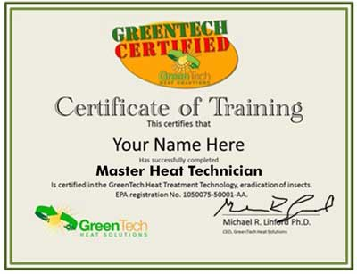 Bed Bug Heat Treatment Certification and Training Program - Chemical ...