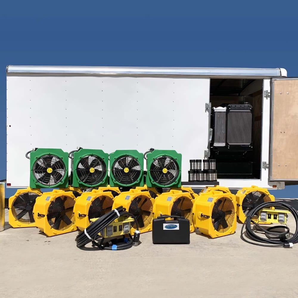 Mobile Thermal Pest Eradication generator trailer package kills bed bugs and other insects