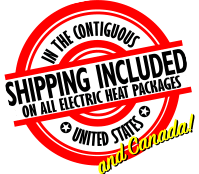 Free shipping on all electric heat packages.