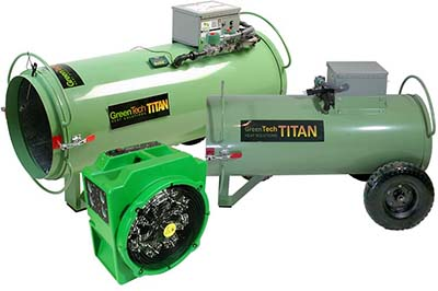 TempAir and Thermal Remediation heater is much heavier than the GreenTech Heat ePro 600.