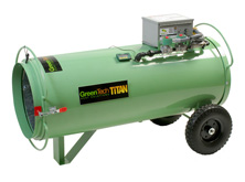 Titan 800 direct-fired propane heater is safe and effective when treating pests in grain silos.