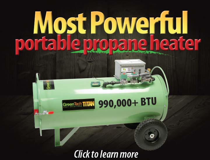 Titan 800 propane bed bug heater system is the most powerful portable propane bed bug heater on the market
