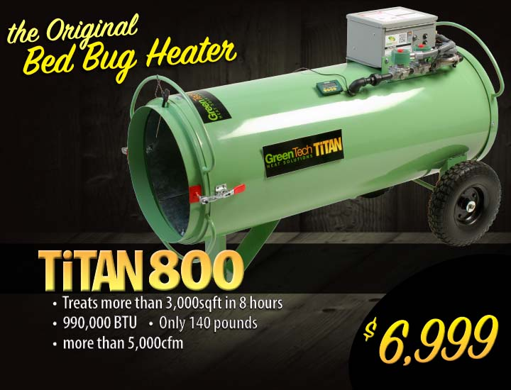 Titan 450 propane bed bug heater system