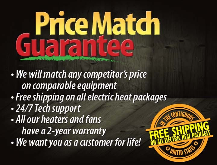 We will match any competitors price on comparable equipment